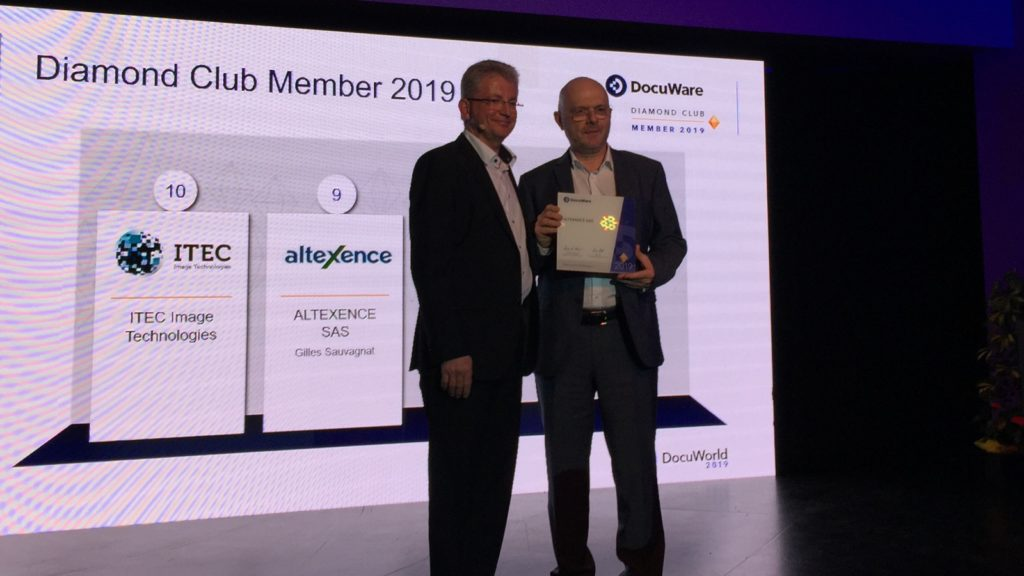Altexence DocuWare Diamond Club Member 2019